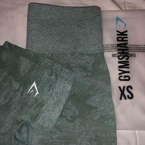 Gymshark green camo leggings